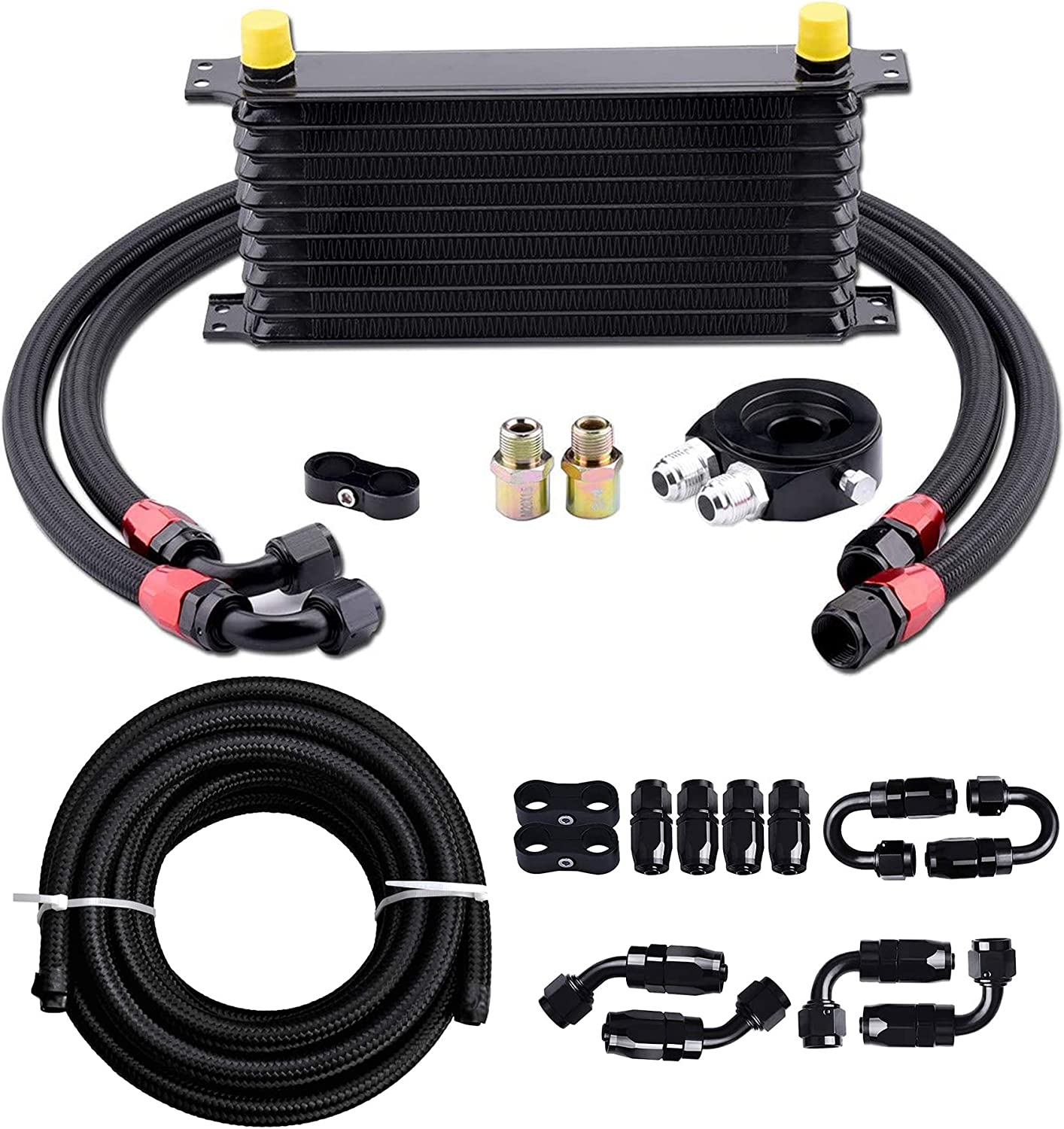 EVIL ENERGY 10 Cheap bargain Row AN10-10AN Oil Cooler Engine Free shipping anywhere in the nation Kit Universal Tra