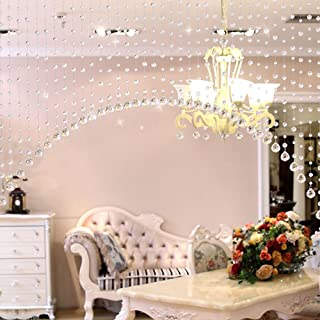 Discount4product Transparent Acrylic Modern Curtain, 3 Feet