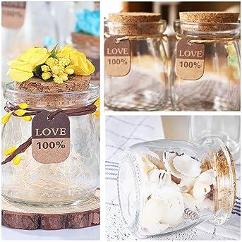 Glass Jars, KAMOTA 40 PACK 6 oz Clear Yogurt Jars With PE Lids, Glass Pudding Jars Yogurt Jars Ideal for Jam, Honey, ...