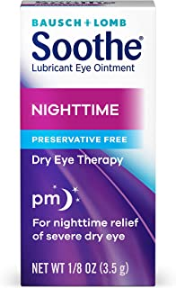Bausch + Lomb Soothe Lubricant Nighttime Dry Eye Ointment, 0.125 Ounce