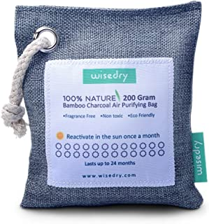 wisedry 200g Air Purifying Bamboo Charcoal Bag Reusable Home Air Freshener Unscented Eco..