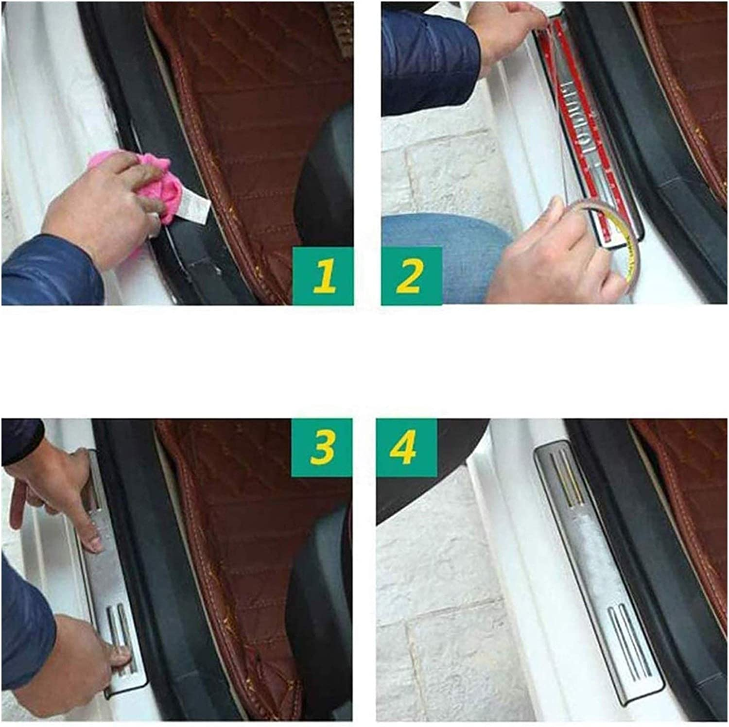 Color : Silver for Nissan Qashqai J11 2015-2020 Stainless Steel Car Kick Plates Pedal Plate Protector Door Sill Protector Sticker Threshold Cover Protection Kick Plates