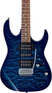 Ibanez 6 String Solid-Body Electric Guitar, Right, Blue (GRX70QATBB)
