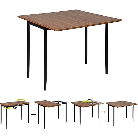 MEUBLE COSY Table salle a manger Extensible Table Console Cuisine Scandinave, Plateau en MDF Armature en Métal