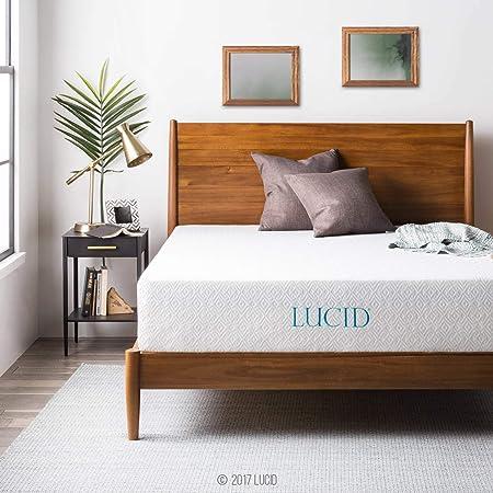 LUCID 12 Inch Gel Infused Memory Foam Mattress - Medium Feel - CertiPUR-US Certified - 10-Year warranty - Twin