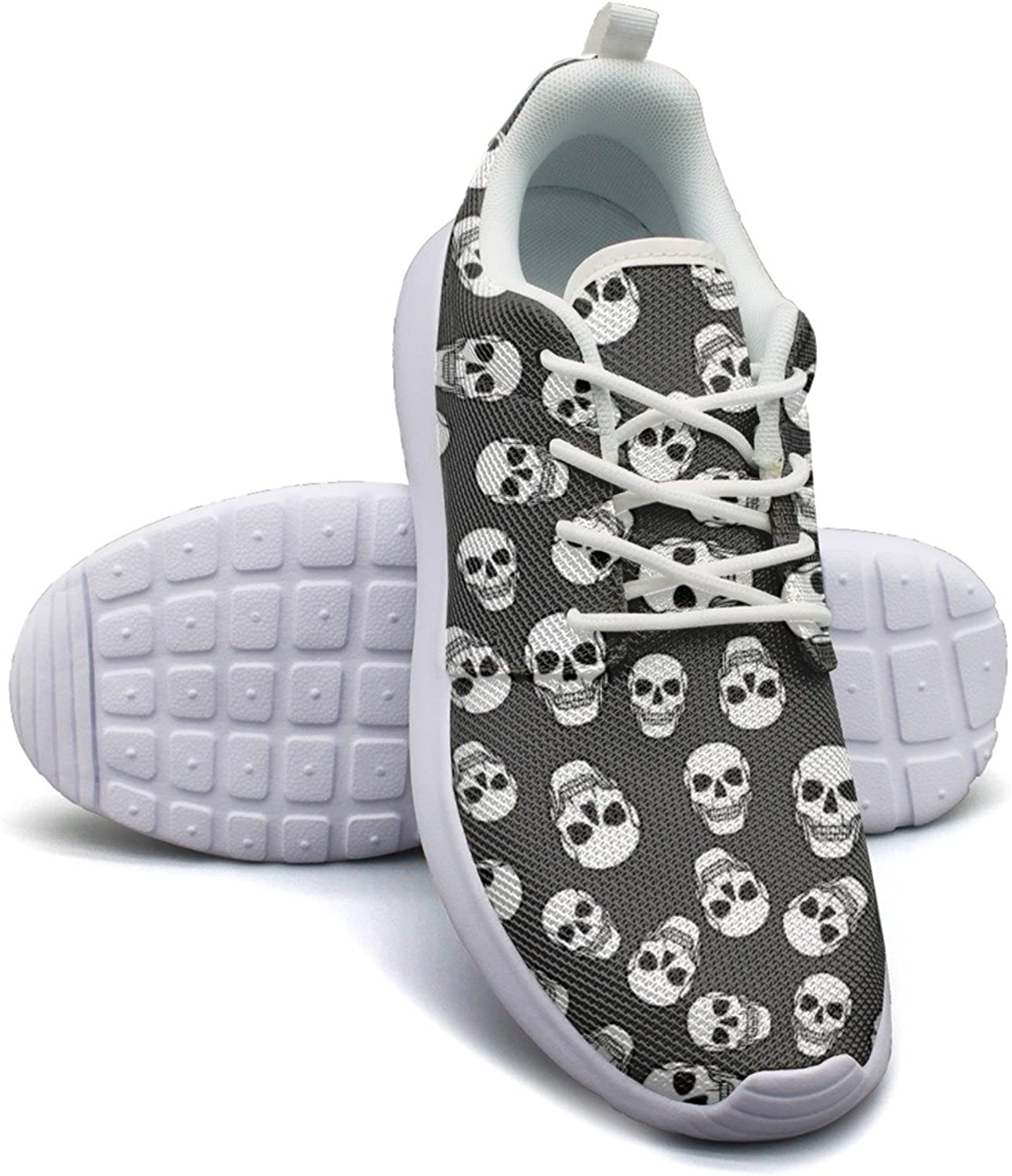Dreadful Skulls Women's Fashion Sneakers shoes Casual Mesh Lightweight Running Sneakers