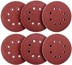 60 Pack 8 Holes Sanding Discs, 5 Inch Hook and Loop 60/80/120/180/240/320 Grit Sandpaper Assortment for Random Orbital Sander