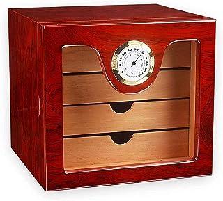 Smoking Set/Cigar Accessories Cigar Cabinet Lining and 4-layer Drawer, Decent Cigar Box Set Decorative box
