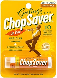 ChopSaver Gold Lip Balm with SPF15 Protection 0.15 oz (Pack of 12)
