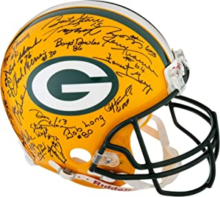1966 & 1967 Green Bay Packers Super Bowl I & II Champs Team Signed Helmet PSA