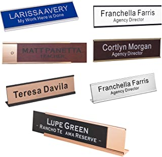 Personalized Name Plate with Wall or Desk Holder 2