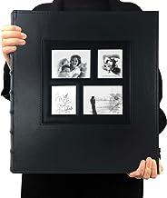 آلبوم عکس RECUTMS 4x6 600 عکس سیاه صفحه آلبوم های عکس عروسی خانوادگی دارای ظرفیت بزرگ چرم سیاه 600 عکس افقی و عمودی (سیاه)