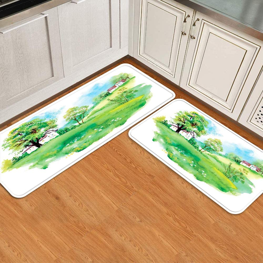 KENADVI Anti Fatigue Kitchen Quality inspection Mat Set Countryside of V 2 Max 59% OFF Pastoral
