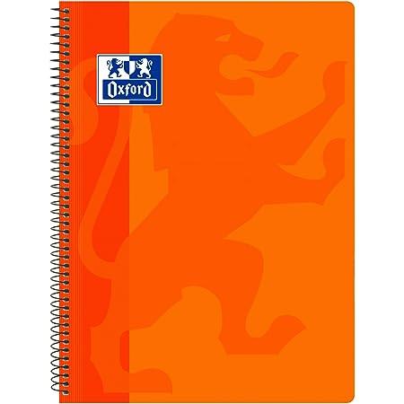 Oxford, Cuaderno A4 (Folio), cuadrícula 4x4, tapa plástico, color naranja