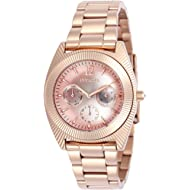 Invicta Women's Angel Quartz Watch with Stainless-Steel Strap, Rose Gold, 21 (Model: 23750)
