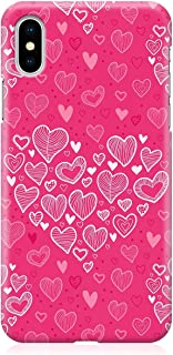 Loud Universe Case for iPhone XS Wrap around Edges Valentines Day Couples Pink Love Heart Pattern Sleek Design Heavy Duty ...