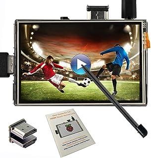 OSOYOO LCDタッチスクリーンHDMI 3.5インチモニターディスプレイ TFT Raspberry Pi 3 2 Model B用 オーディオ出力 スタイラスペン付き
