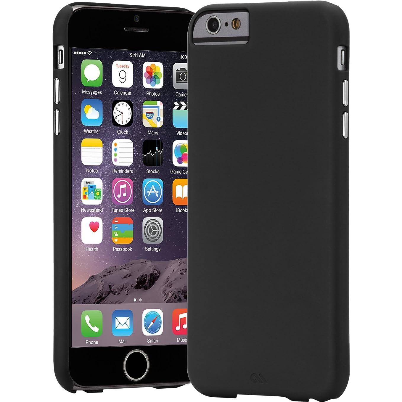 快い列挙する元のCase-Mate iPhone6s Plus iPhone6 Plus 5.5 薄型 シンプル ベアリーゼア スリム ハード ケース マットブラック 美しいメタリックボタン CM031797
