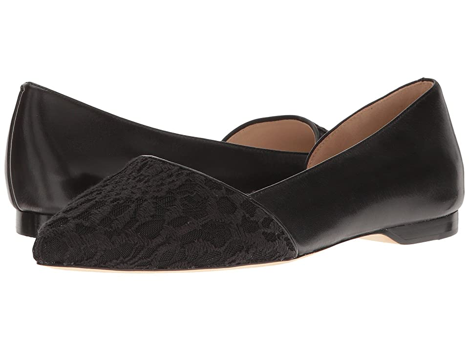 Cole Haan Amalia Skimmer (Black Lace/Leather) Women
