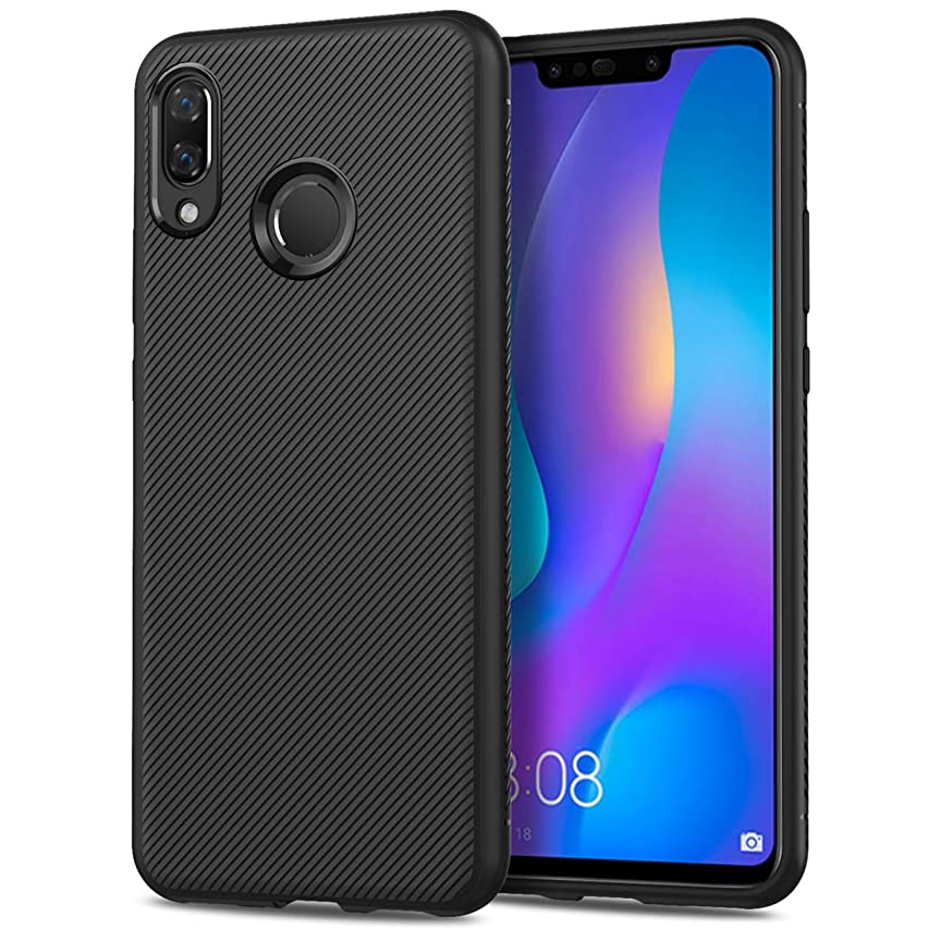 Codream Huawei Y9 2019 Case, Hybrid Shockproof Slim Cover Fit Scratch Resistant Rubber Bumper Back and Protective for Huawei Y9 2019 - Black