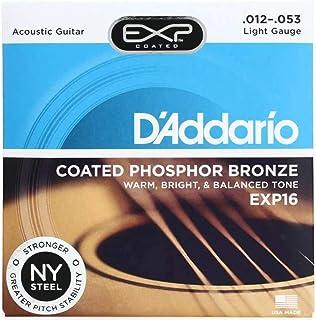 D'addario Coated Phosphor Bronze Light Acoustic Guitar Strings - EXP16