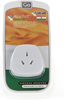 Go-Travel Indian Adaptor, White, 240