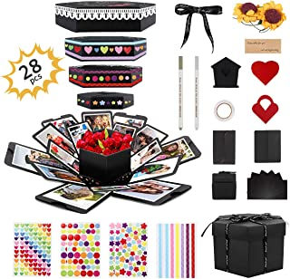 Gifort Explosion Box, Creative DIY Photo Album de Accesorios, Hecho a Mano Sorpresa Explosión Caja de Regalo Amor Memoria ...