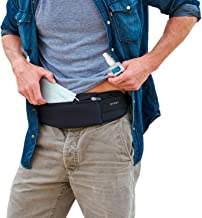 The Belt of Orion - Survival Gear Travel Running Belt Waist Fanny Pack - Hands Free Way to Carry Sanitizer, Face Mask, Phone, Passport, Keys, ID, Money & Everyday Essentials - Adjustable, Water Resistant (Black)