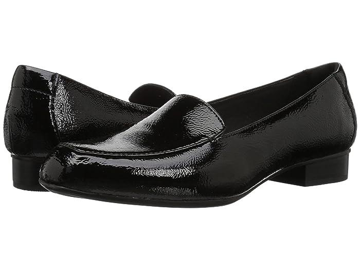 Retro Vintage Flats and Low Heel Shoes Clarks Juliet Lora Black Patent Leather Womens  Shoes $85.00 AT vintagedancer.com