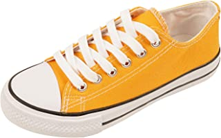SUNJIN ACRO Unisex Fashion Lace up Sneaker Low Top Canvas Shoes