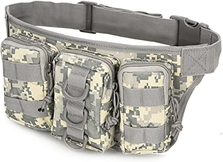 Tactical Waist Pack Military Fanny Belt Pouch Waterproof Bum Bag for Outdoor Climbing Fishing Running Hunting