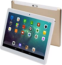 KuBi 10 Inch Tablet Pc Android 7.0 1280x800 IPS Tablets PC Octa Core RAM 4GB ROM 64GB 8MP 3G Dual sim Card Phone Call GPS 7 9 (Gold)