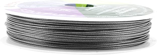 Mandala Crafts Tiger Tail Beading Wire from Soft and Flexible Stainless Steel for Jewelry Making, Bead Stringing, Crafting (7 Strands 0.7MM 98FT)