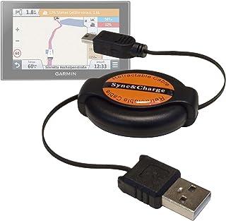 DURAGADGET Cable Mini USB Retráctil para GPS Garmin Drive 61 Full EU LMT-S/ Garmin Camper 770 LMT-D - Ideal para Conectar...