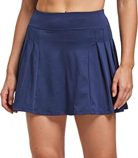 Cityoung Women Printed Athletic Tennis Skirt Pleated Golf Skort Running Short Underneath