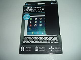 Innovative technologies Ultra thin bluetooth keyboard case for ipad air 40 hr. charge