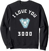 Marvel Avengers Endgame Iron Man I Love You 3000 Arc Reactor Sweatshirt