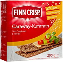 Finn Crisp Caraway Thin Rye Crispbread with Caraway, 7 oz- Pack of 1