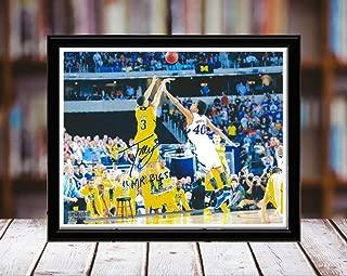 Trey Burke Autograph Replica Print - Michigan Wolverines - 8x10 Desktop Framed Print - Landscape