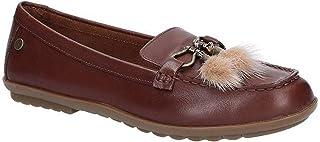 [Hush Puppies] (ハッシュパピー) レディース Aidi レザー パフ ローファー 婦人靴 フラット シューズ 女性用 (5 UK) (ブラウン)