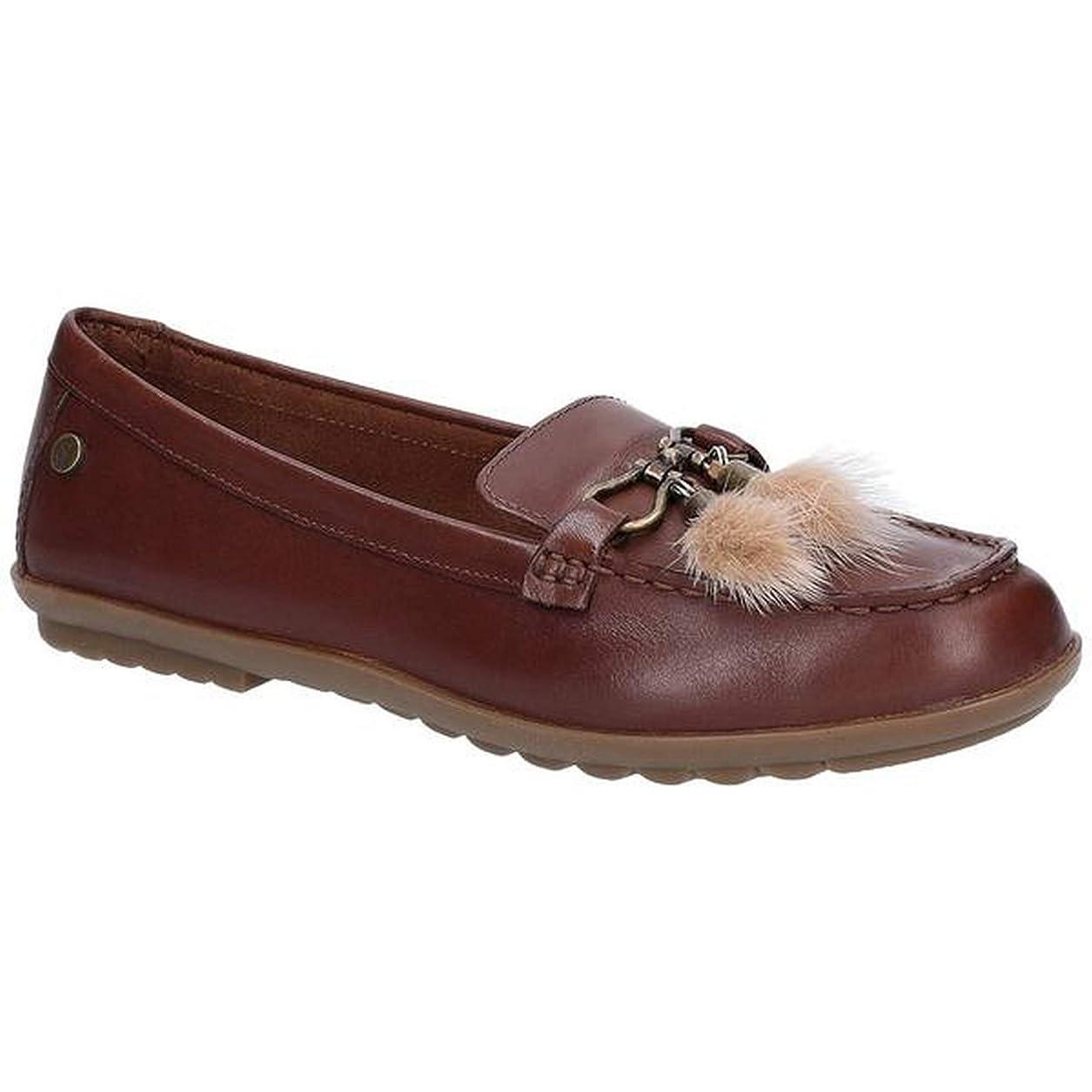 先のことを考える参加する運河[Hush Puppies] (ハッシュパピー) レディース Aidi レザー パフ ローファー 婦人靴 フラット シューズ 女性用 (4 UK) (ブラウン)