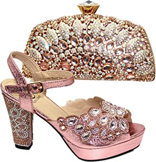 New Italian Ladies Shoes and Bag to Match Set Women Shoes and Bag Set African Sets 2019 Nigerian Women Party Shoes and Bag Set