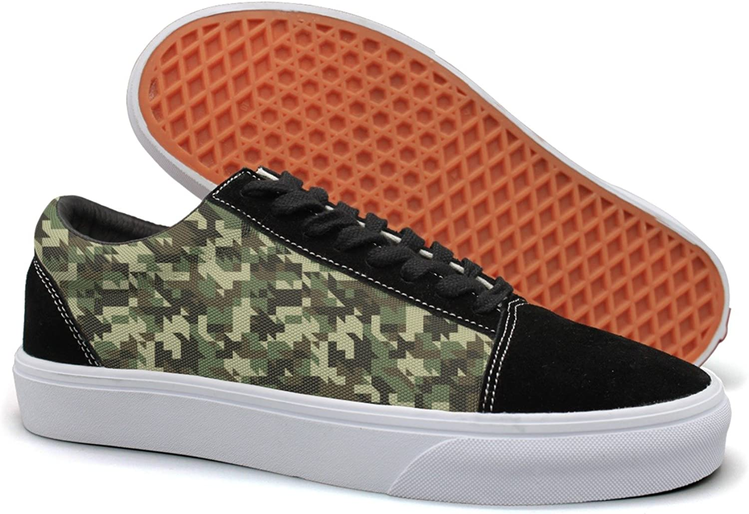 Military Digital Camouflage Green Womens Latest Suede Canvas Running shoes Low Top Running shoes