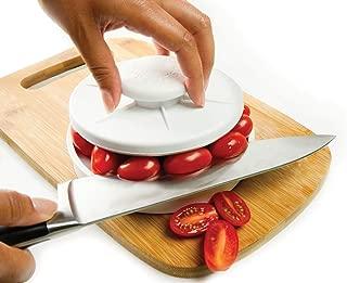 Rapid Slicer, Food Cutter, Slice Tomatoes, Grapes, Olives, Chicken, Shrimp, Strawberries, Salads. Non-Slip Gadget Holder for Slicing All Different Foods Easily