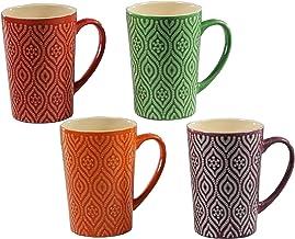 4 pc Multi Color 17 Oz Coffee Mug Set (Multi Color)
