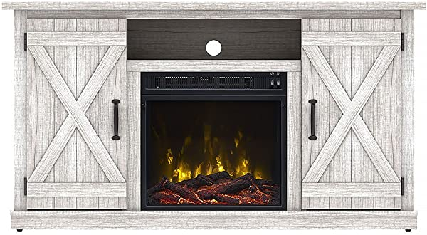 Comfort Smart Killian Electric Fireplace TV Stand Sargent Oak