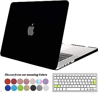 TECOOL Funda para MacBook Pro 15 Pulgadas con Retina Display, Plástico Dura Case Mate Carcasa con Tapa del Teclado para 2013-2015 MacBook Pro 15 Retina (Modelo: A1398) -Negro