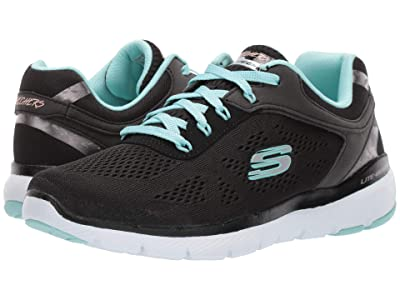 SKECHERS Flex Appeal 3.0 (Black/Turquoise) Women