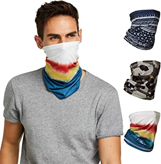 Fashion Neck Gaiter Bandana Face cover Scarf breathable Masks for Women and Men-SET OF THREE