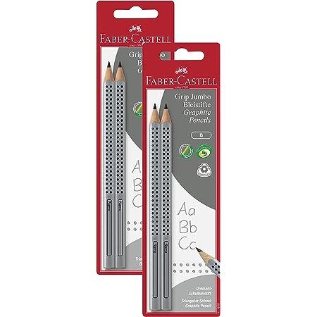 Grip, 10er Spar-Pack + 4 Radierkappen Faber-Castell Set